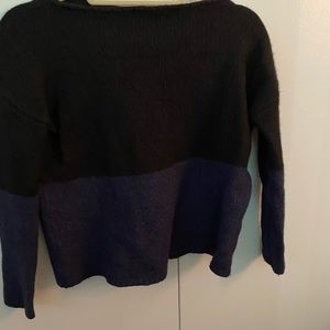 Vince Color Block Wool/Cashmere Sweater
